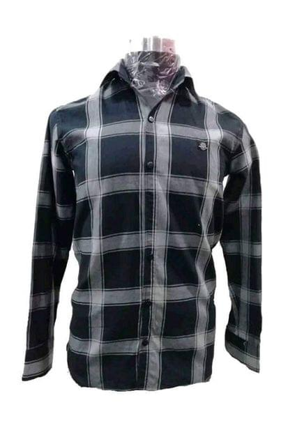 BLACK CHECKS CASUAL SHIRT