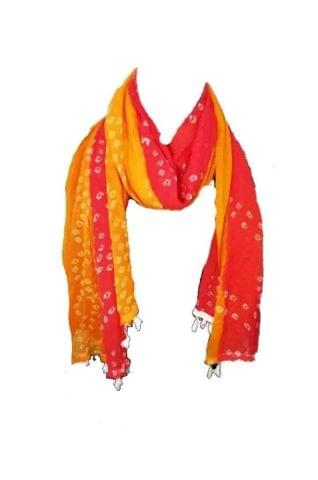 DUPATTA RED AND YELLOW