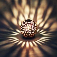 HabereIndia-Agra Handmade Sphere Marble Diya Lampshade