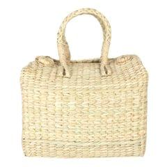 HabereIndia - Chic Dry Grass bag/handbag from Manipur/carry tote bag