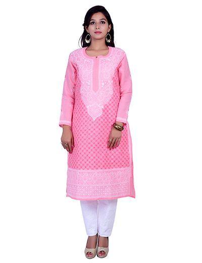 Rohia by Chhangamal Hand Embroidered Kashmiri Gala Kurti With Front Jaal