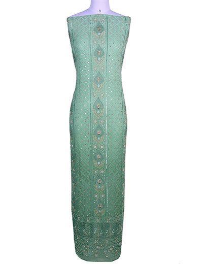 Rohia by Chhangamal Hand Embroidered Unstiched Viscose Chikan Kurta Length(Kurta 2.5 M, Bottom 2 M, Dupatta 2.15 M)