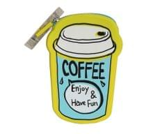 Ink The Town Coffee Yellow Silicon Coin Purse