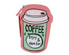 Ink The Town Coffee Pink Silicone Coin Purse