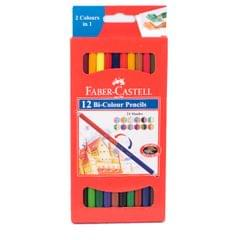 Faber Castell 12 Bi Colour Pencils 24 Shades