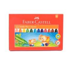 Faber Castell Jumbo Wax Crayons  (90mm 12shades)