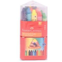 Faber Castell Triangular Jumbo Wax Crayons  (75mm 15shades)