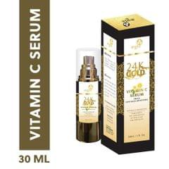 Aegte 24K Gold Vitamin C Serum with Collagen Booster, Soften & Brightens Skin, 30 ML