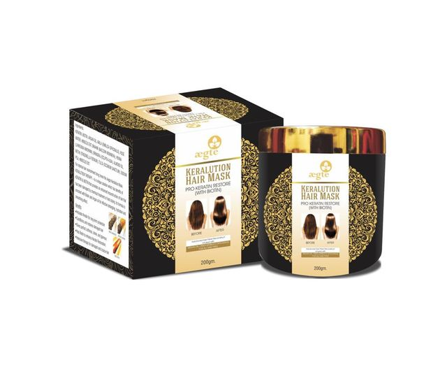 Aegte Keralution Hair Mask Infused with Argan Oil+Amla (Emblica Officinalis) for all Hair types-100ml/3.4fl.oz