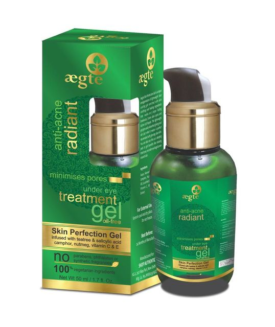Aegte Oil Free Anti Acne Treatment Facial Skin Perfection Gel for Radiant and Glowing Skin -50ml/1.5fl. Oz