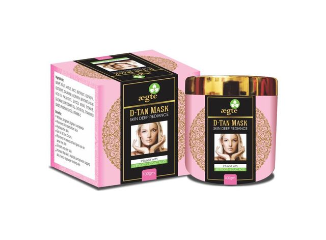 Aegte Skin Deep Radiance D-Tan Mask for Skin Whitening, Smooth and Silky Skin - 100ml/3.4fl.oz