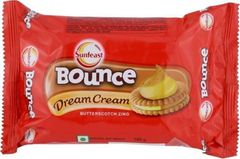 SUNFEAST  BOUNCE DREAM CREAM - BUTTERSCOTCH ZING - 120 Gms