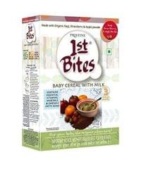 PRISTINE - 1st BITES - BABY CEREAL WITH MILK - RAGI ,STRAWBERRY AND APPLE POWDER - 300 Gms