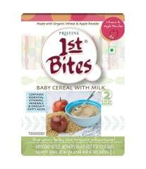 PRISTINE - 1st BITES - BABY CEREAL WITH MILK - WHEAT AND APPLE POWDER - 300 Gms