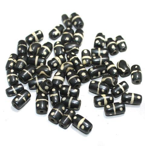 50 Pcs Bone Beads 11x8mm Small Tube