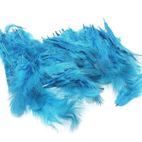 100 Jewellery Making Feather Sky Blue