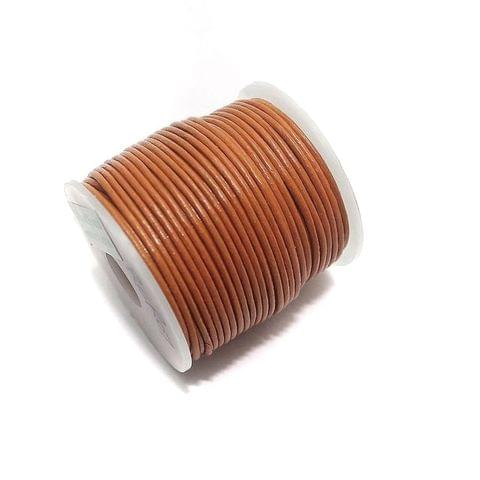 Jewellery Making Leather Cord 1mm Orange-25 Mtr