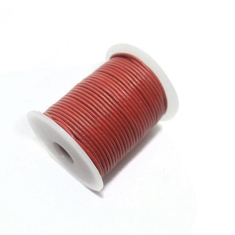 Jewellery Making Leather Cord 1mm Red