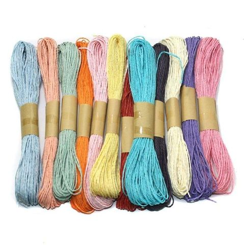 12 Colors Paper Raffia Combo Twisty, Size 1.5mm
