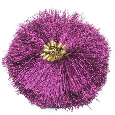 100 Pcs Silk Tassel 1.5 Inch Purple