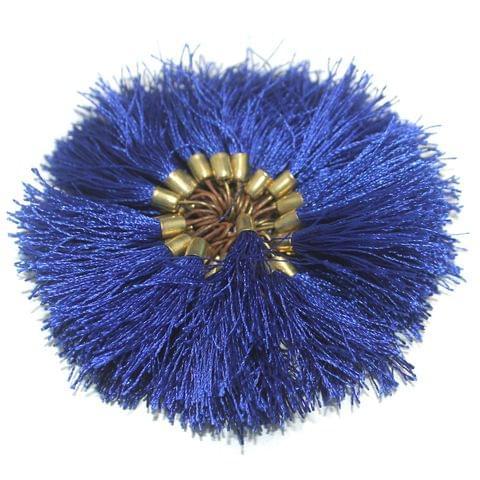 100 Pcs Silk Tassel 1.5 Inch Blue