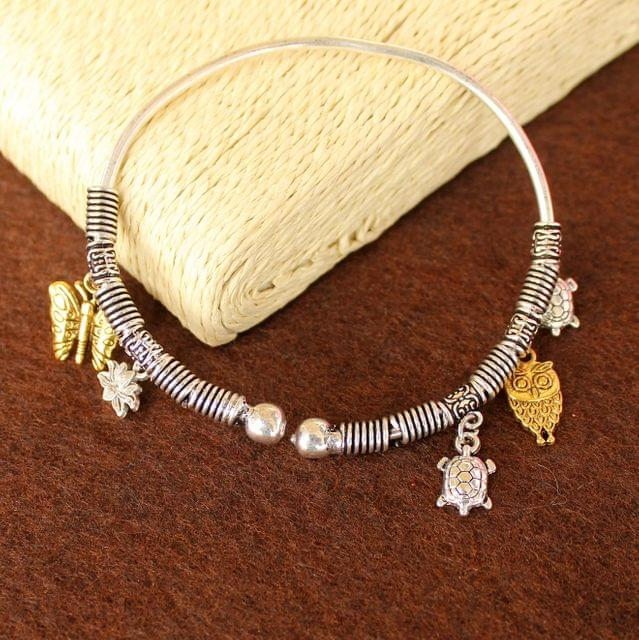 German Silver Charms Bracelet Kada