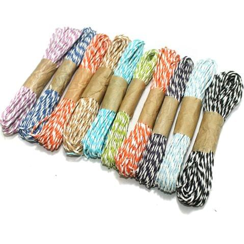 10 Colors Paper Raffia Combo Twisty, Size 1.5mm