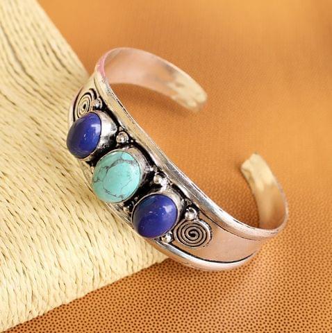 German Silver Stone Bracelet Kada
