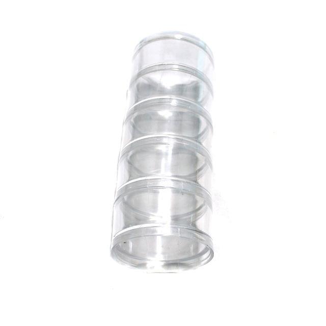 4 Set Acrylic Beads Storage 5 Compartment Box 2x5 Inch