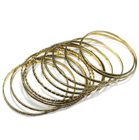 12 Pcs Bangle Base Golden 2`6 Inch