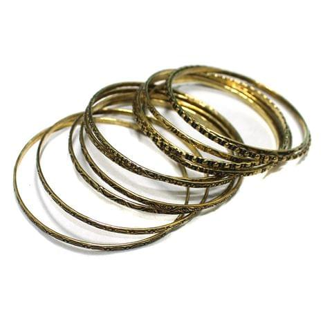 12 Pcs Bangle Base Golden 2`8 Inch