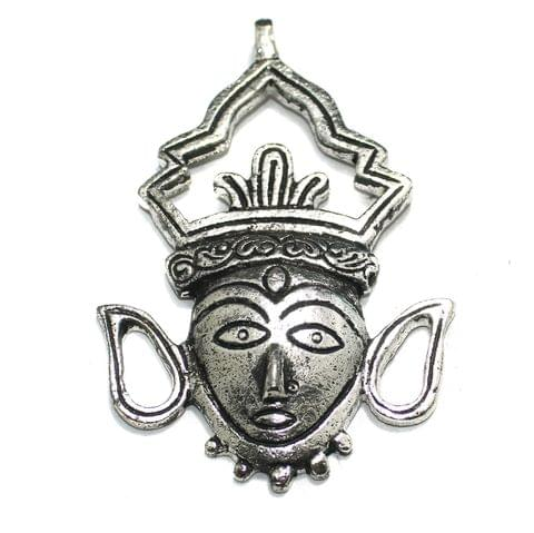 1 Pc German Silver Eve Pendant Silver