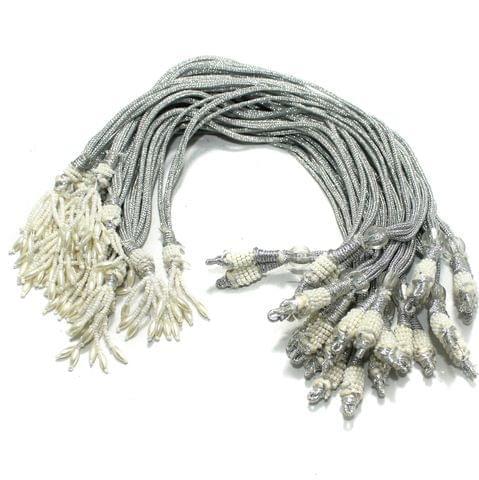 12 Pcs Silver Necklace Dori Zari
