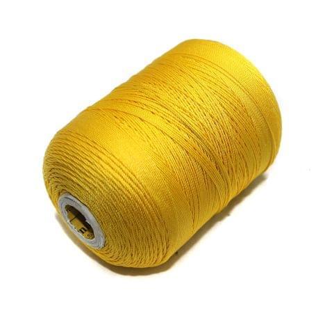 5000 Mtr Satin Cotton Thread 0.40mm Yellow