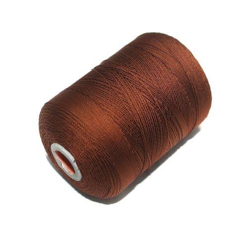 5000 Mtr Satin Cotton Thread 0.40mm Coffee
