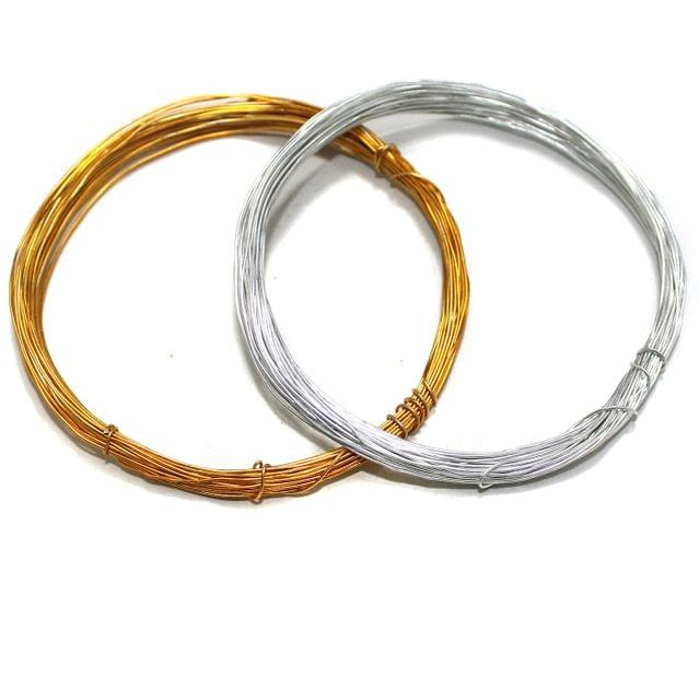 40 Mtrs Aluminium Craft Wire Combo 0.5mm