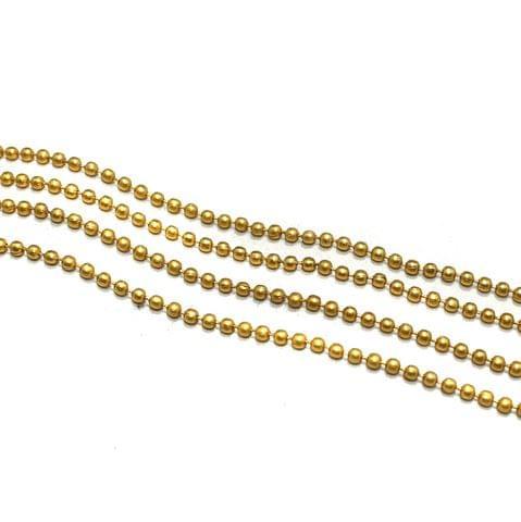 10 Metal Aluminium Ball Chain Golden 2.5mm