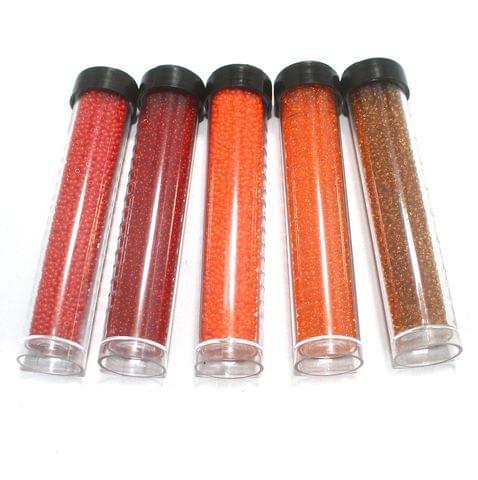 5 Colors Preciosa Seed Beads Combo Orange 11`0
