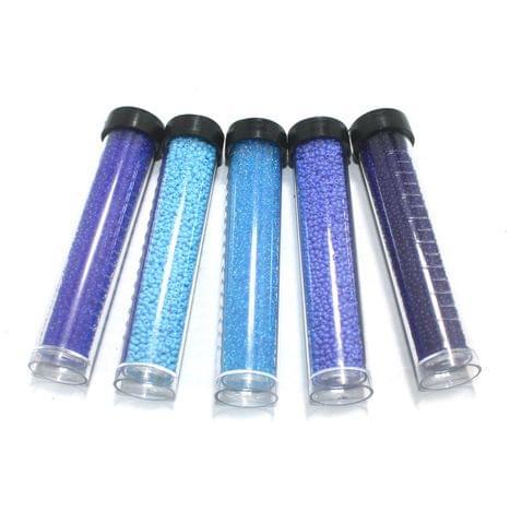 5 Colors Preciosa Seed Beads Combo Blue 11`0