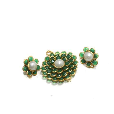 Green Pacchi Pendant Set 32mm