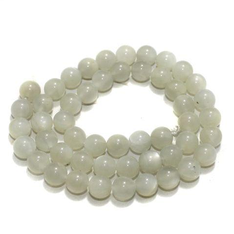 8mm White King Gemstone Beads 1 String