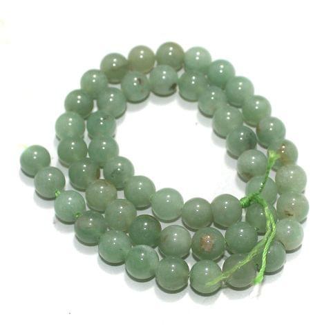 8mm Green Aventurine Gemstone Beads 1 String