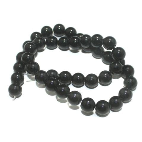 10mm Black Gemstone Beads 1 String