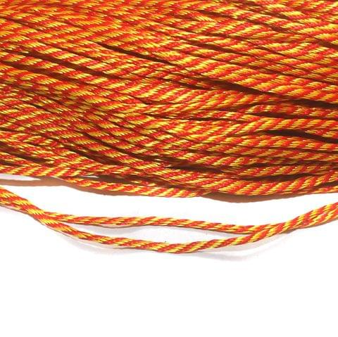 Multi Twested Satin Thread 3mm, For Jewellery Making, Craft