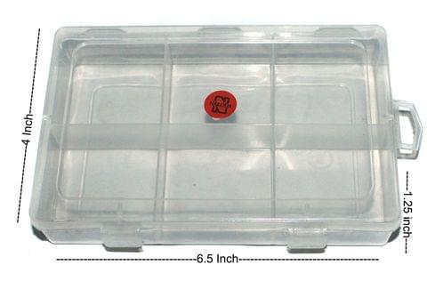 2 Pcs Rectangle Shape Acrylic Beads Storage Box 6.5x4x1.25 Inch
