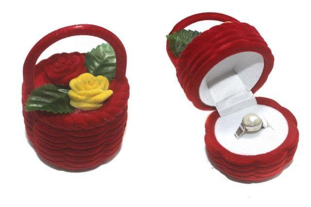 Flower Basket Finger Ring Box 1 Pcs