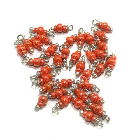 Orange Loreal Glass Beads 4x2mm 100 Pcs