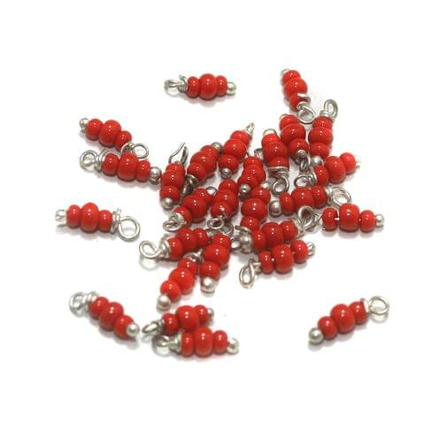 Red Loreal Glass Beads 4x2mm 100 Pcs
