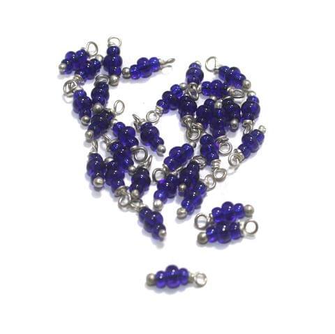 Blue Loreal Glass Beads 4x2mm 100 Pcs