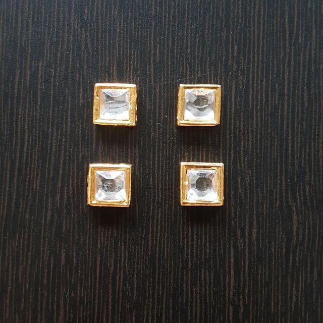 10pcs, Kundan Spacers, 11mm